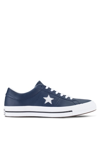 Converse navy One Star Ox Men's Sneakers CO302SH89ZAOMY_1