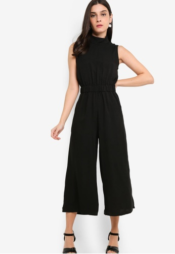 ZALORA black High Neck Jumpsuit 57BD3AACD60C9AGS_1