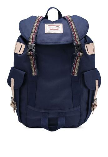 Doughnut navy Woodland Small Bo-He Backpack DO545AC0RM93MY_1