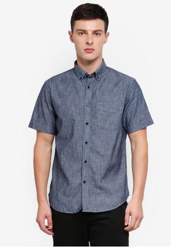 Banana Republic blue Slim Fit Chambray Shirt B7F2FAAFF3AABBGS_1