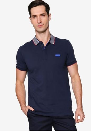 BOSS navy Paddy Polo Shirt F3A92AAA864297GS_1