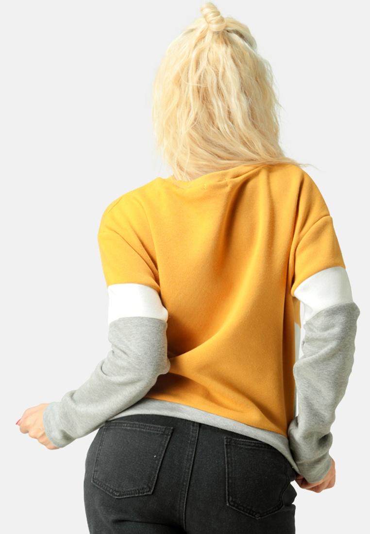 Rag Block London Color Mustard Sweatshirt qxAX6qfwt