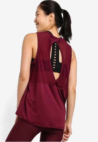 Cotton On Body red Mesh Back Tank Top 4655DAA3794A64GS_1