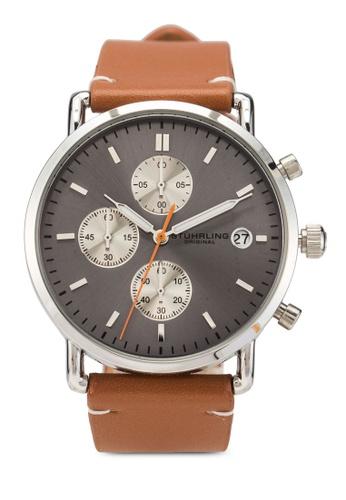 Stuhrling Original silver Monaco 3903 Watch CEEA6ACE2A28ABGS_1