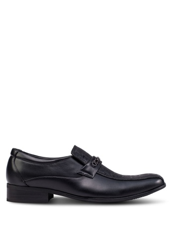 Knight black Business Shoes KN875SH84FRZMY_1