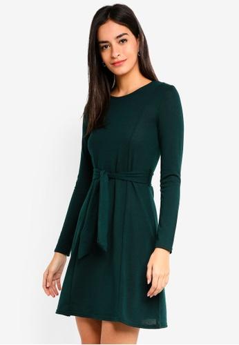 Dorothy Perkins 綠色 Green Tie Waist Dress 9212CAAD205E1FGS_1