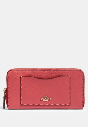 Coach pink Coach Accordion Zip Wallet - Pink A3E4FAC725972EGS_1
