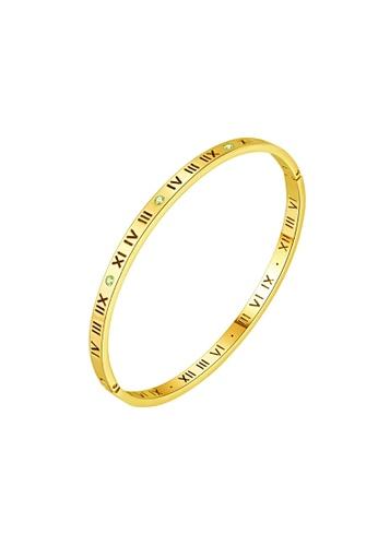 CELOVIS gold CELOVIS - Chantal Roman Numeric with Dias Bangle (Gold) 07547AC45B89EFGS_1