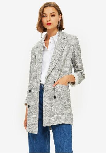 TOPSHOP grey Slouch Coat 92ECEAA03E94D3GS_1