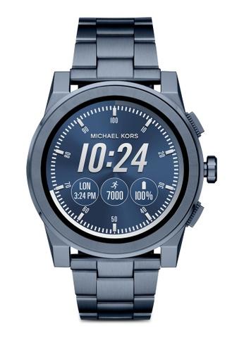 MICHAEL KORS blue Michael Kors Grayson Smart Watch MKT5028 64694AC5D96463GS_1
