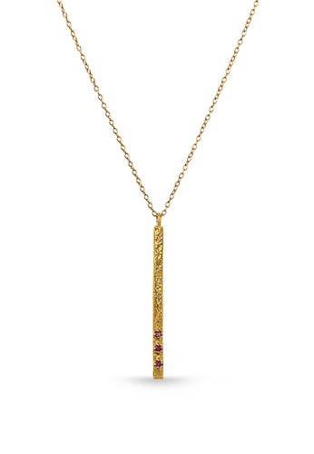 Jemocracy gold JEMOCRACY - Fresh Start - chain necklace in gold vermeil 2F82CAC2C4C526GS_1