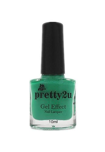 Pretty2u green Gel Effect Nail Lacquer 11 PR716BE12WQPMY_1