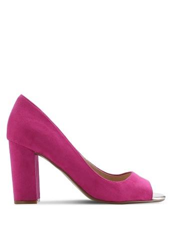 Dorothy Perkins 粉紅色 露趾粗跟鞋 DO816SH69UXQMY_1