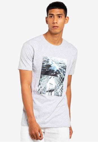 Cotton On 灰色 休閒印花T恤 4C610AA56A5D5CGS_1