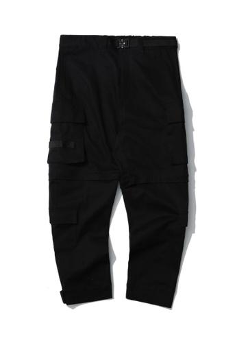 Fivecm black Belted cargo pants 6CCCDAA14B0821GS_1
