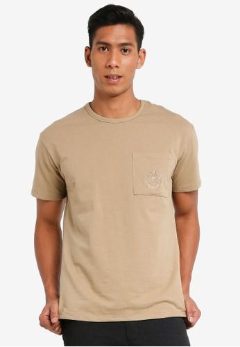 SPARROW GREEN brown Crest oversized Tee 862E9AA4DA62F5GS_1