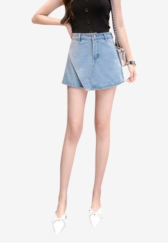 Lara blue Women's High Waist Wide Tube Shorts 00B98AA318F301GS_1