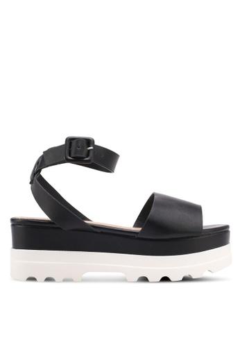 Something Borrowed black Ankle Strap Platform Sandals CD912SHA50B5D3GS_1