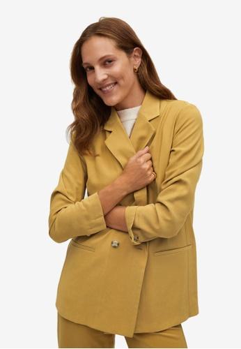 Mango yellow Suit Blazer 87DCEAA77B92DFGS_1