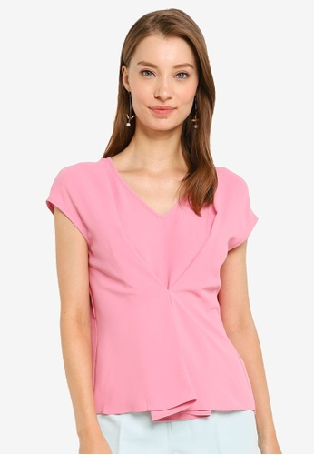 G2000 pink Blouse With Front Folded Detail 92630AAF52680FGS_1