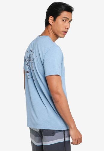 Billabong blue Directional UPF 50 Surf Tee 8253DAADFBCC41GS_1