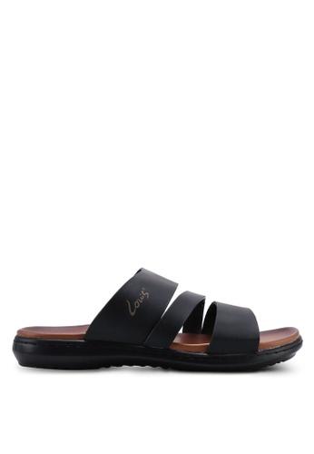 Louis Cuppers black Triple Strap Sandals 23F25SH07ACC4AGS_1