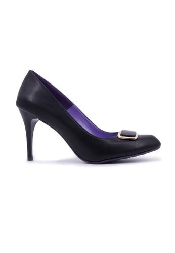 Flatss & Heelss by Rad Russel black Almond  Elegant Heels - Black 2C868SHCF9BD97GS_1