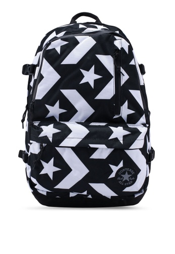 Converse black Converse All Star Straight Edge Backpack 04E62ACDF737C8GS_1