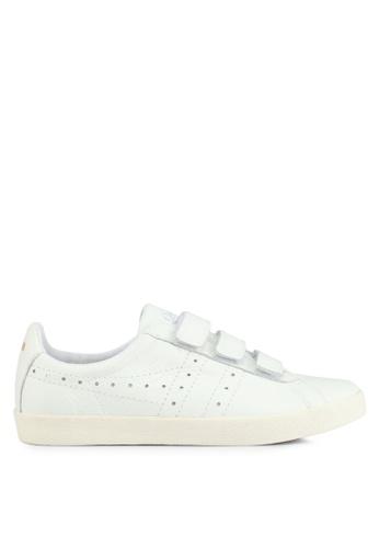 Gola white Tourist Velcro Leather Sneakers 9555FSH83377E9GS_1