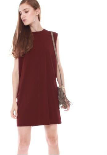 JOVET red Tunic Dress 358A5AA00BC2C0GS_1