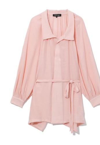 tout à coup pink Self-tie shirt CA032AAF31BB55GS_1