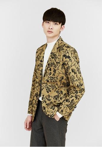 Life8 brown Life8 x Daniel Wong。Totem Classic Suit Jacket-03660-Brown LI286AA98BGZMY_1