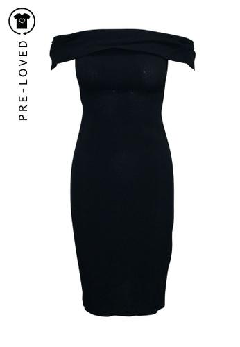 Reformation black Pre-Loved reformation Off Shoulder Black Midi Dress 3A788AA4F2FAA3GS_1