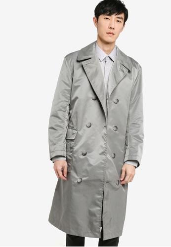 BOSS silver Loup Coat FFC1EAA2CC3E0EGS_1