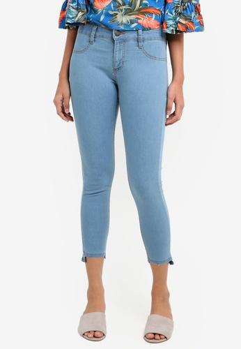 Cotton On blue Mid Rise Capri Jegging Jeans D117CAA19026F8GS_1