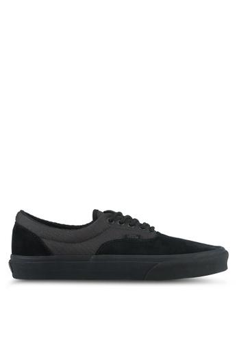 VANS black Era Military Mono Sneakers VA142SH0SKV8MY_1