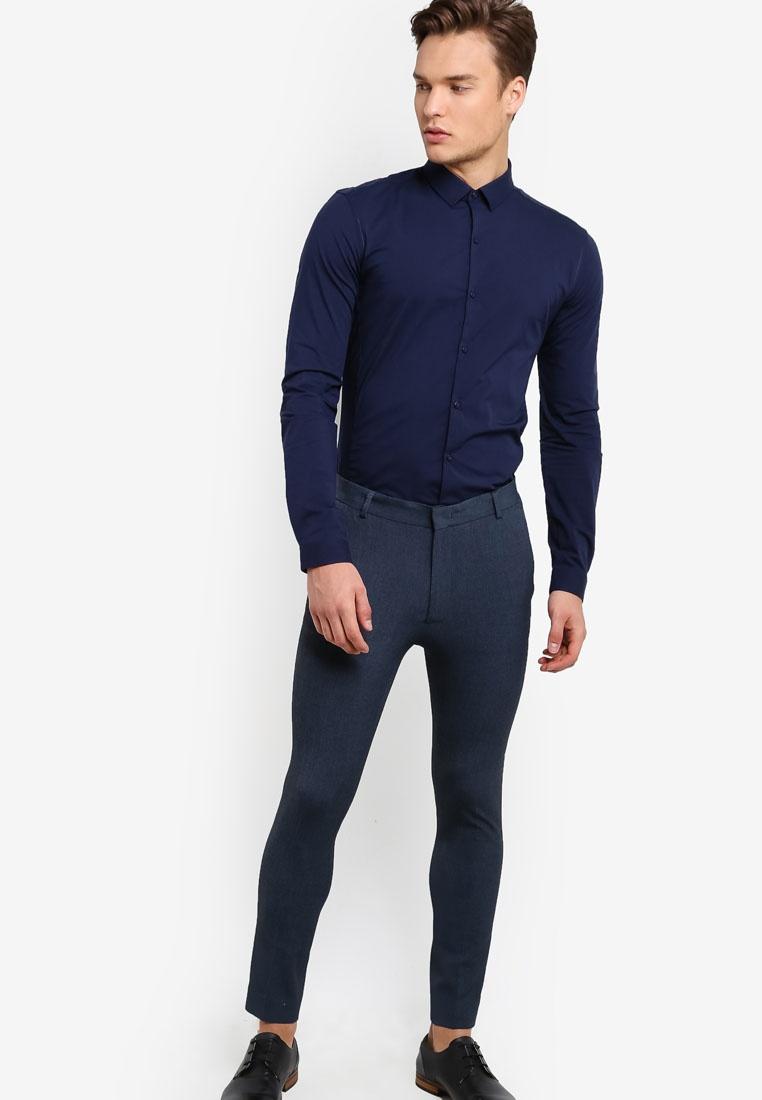 Topman Skinny Trousers Mid Ultra Blue Marl Blue wag1qZ7a