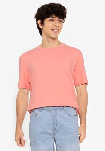 Springfield pink Washed T-Shirt 0C3F3AA0B1BDA7GS_1
