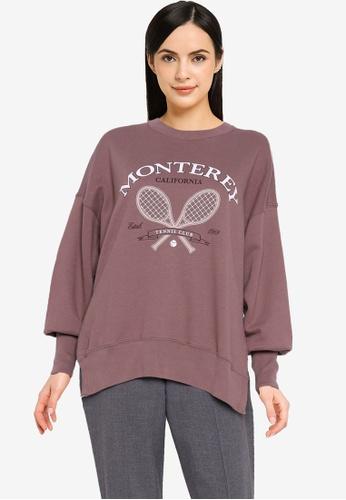 Abercrombie & Fitch beige Seasonal Tunic Non Logo Varsity Sweater DB689AA6B51A73GS_1