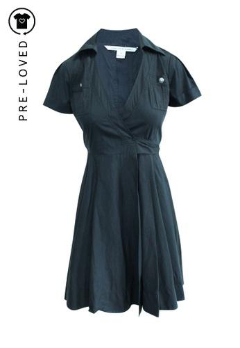 Diane Von Furstenberg black Pre-Loved diane von furstenberg Wrapped Dress 49D65AA55D6D52GS_1