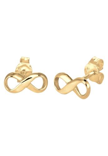 ELLI GERMANY gold Elli Germany 925 Sterling Silver Gold-Plated Infinity Earrings EL474AC86DOZMY_1