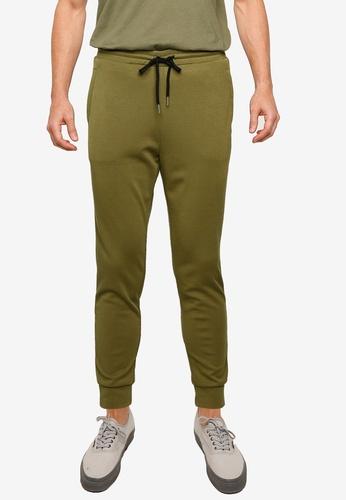 ZALORA BASICS green Terry Jogger Pants DB685AAF0EA61FGS_1