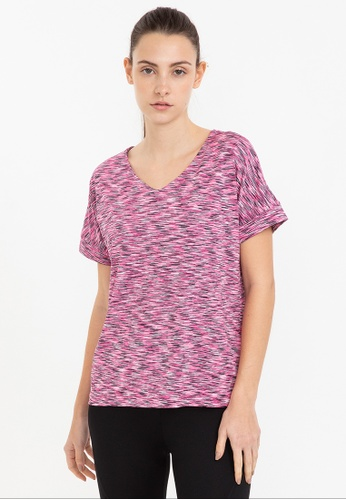 Bossini pink Ztay Dry - Short Sleeve Tee with Small V Neck CEC53AAF9D15ACGS_1