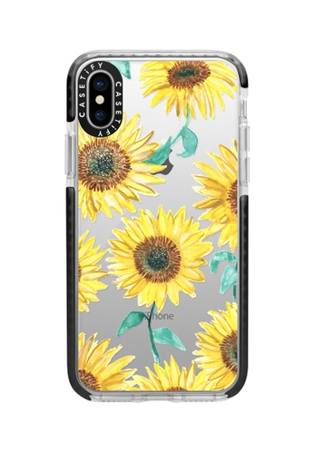 best website dd897 72250 Sunflowers Impact Case For iPhone XS/ iPhone X - Black