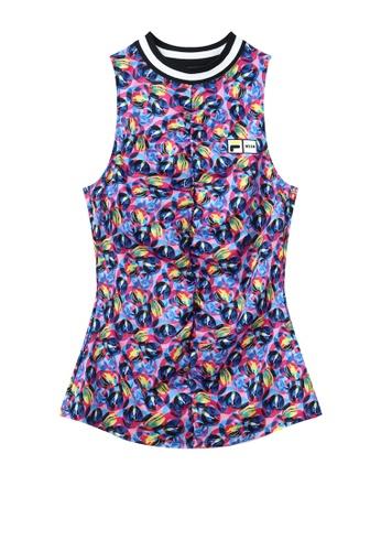 FILA multi FILA x MSGM Logo All Over Colored Graze Print Sports Vest 9BF62AA01085E7GS_1