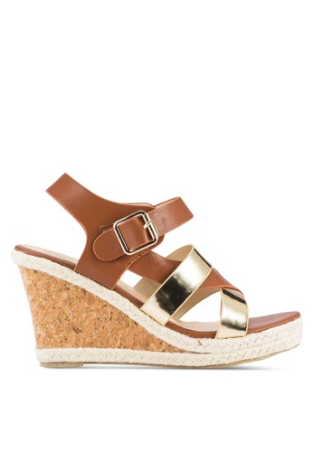 Mimosa brown Mimosa Strappy Wedges MI065SH70QFPMY_1