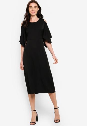ZALORA black Cold Shoulder Sleeve  Dress 1CBA1AAAC08A7CGS_1