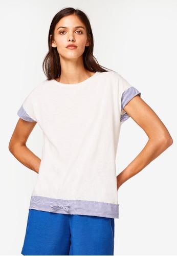 ESPRIT white Short T-Shirt FE4AFAA1C22394GS_1