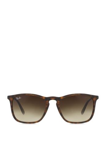 Ray-Ban Chris  RB4187 Sunglasses RA370GL26SERSG_1