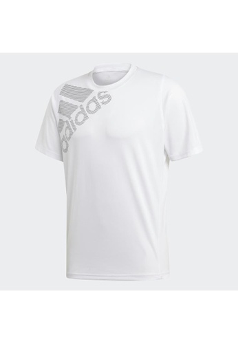 ADIDAS white adidas FreeLift Badge of Sport Graphic Tee D4A80AAA3F9158GS_1